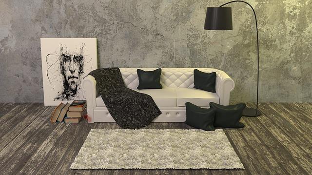 polštářky u gauče