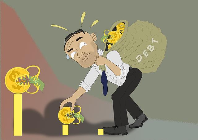muž s rostoucím dluhem